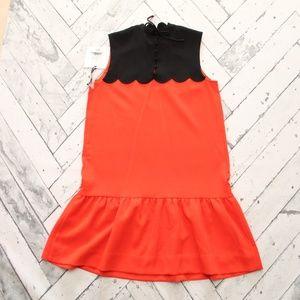 Victoria Beckham for Target Dresses - Victoria Beckham for Target Orange Scallop Dress
